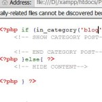 if else category wordpress php statement